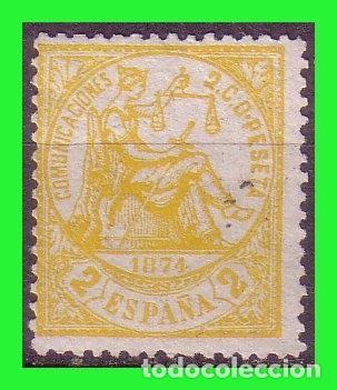 1874 ALEGORIA DE LA JUSTICIA, EDIFIL Nº 143 (*) (Sellos - España - Alfonso XII de 1.875 a 1.885 - Nuevos)