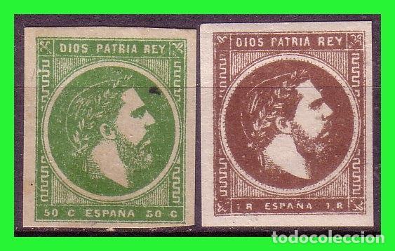 CORREO CARLISTA, 1874 CARLOS VII, PAIS VASCO, EDIFIL Nº 160 Y 161 * (Sellos - España - Alfonso XII de 1.875 a 1.885 - Nuevos)