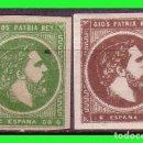 Sellos: CORREO CARLISTA, 1874 CARLOS VII, PAIS VASCO, EDIFIL Nº 160 Y 161 *. Lote 132284366