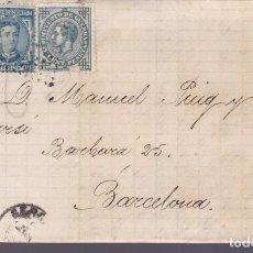 Sellos: CM3-2- CARTA COMPLETA GERONA 1876. Lote 132673442