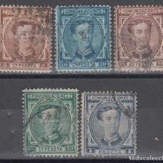 Sellos: ESPAÑA, 1876 EDIFIL Nº 174, 175, 177, 179, 180, . Lote 133496302