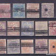Sellos: SS14- CLÁSICOS LOTE 14 SELLOS BARRADOS / TALADROS . . Lote 133971658