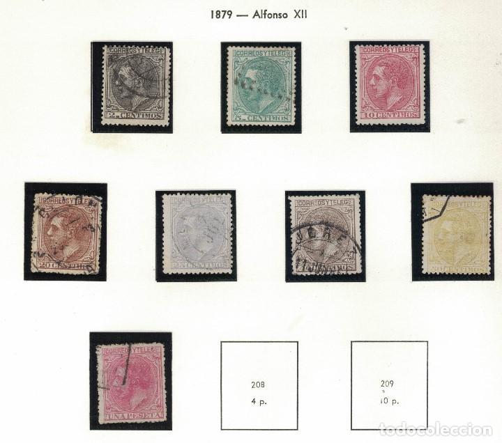 ALFONSO XII 1879. 8 SELLOS. S030 (Sellos - España - Alfonso XII de 1.875 a 1.885 - Usados)