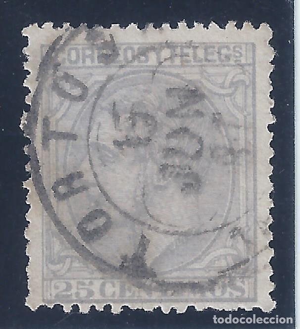 EDIFIL 204 ALFONSO XII. 1879. EXCELENTE MATASELLOS DE TORTOSA FECHADO EL 15 DE JUNIO DE 1881. (Sellos - España - Alfonso XII de 1.875 a 1.885 - Usados)