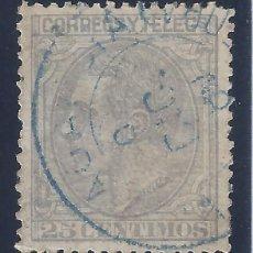 Sellos: EDIFIL 204 ALFONSO XII. 1879. MATASELLOS AZUL. EXCELENTE CENTRADO.. Lote 134410726
