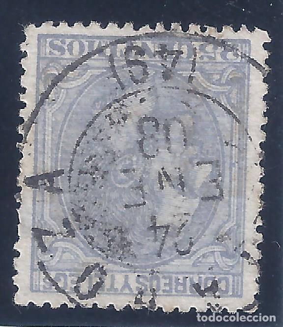 EDIFIL 204 ALFONSO XII. 1879 (VARIEDAD...AÑO INVERTIDO EN MATASELLOS). ZARAGOZA 24-ENERO-1880. LUJO. (Sellos - España - Alfonso XII de 1.875 a 1.885 - Usados)