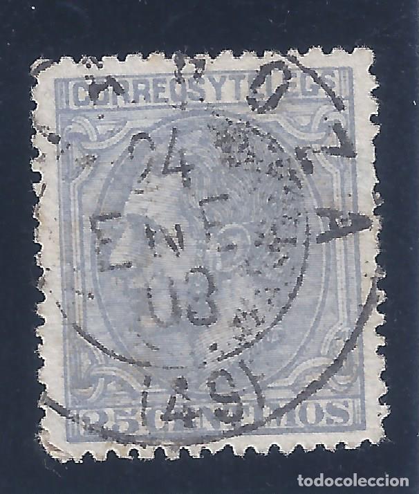Sellos: EDIFIL 204 ALFONSO XII. 1879 (VARIEDAD...AÑO INVERTIDO EN MATASELLOS). ZARAGOZA 24-ENERO-1880. LUJO. - Foto 2 - 134412758