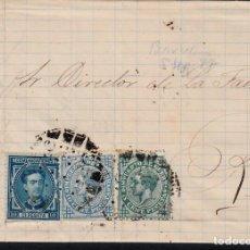 Sellos: CARTA DE GARCIA Y CIA RONDA, 132 EN BARCELONA CON SELLOS NUMS. 175-183-184 Y MATASELLOS LIMADO . Lote 137903966