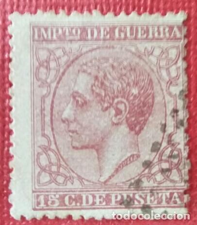 ESPAÑA. ALFONSO XII, 1877. 15 CTS. CARMÍN (Nº 188 EDIFIL). (Sellos - España - Alfonso XII de 1.875 a 1.885 - Usados)