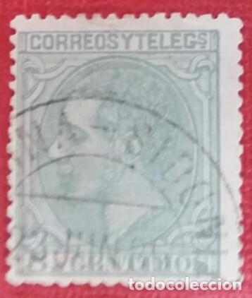 ESPAÑA. ALFONSO XII, 1879. 5 CTS. VERDE (Nº 201 EDIFIL). (Sellos - España - Alfonso XII de 1.875 a 1.885 - Usados)