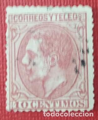 ESPAÑA. ALFONSO XII, 1879. 10 CTS. ROSA CARMÍN (Nº 202 EDIFIL). (Sellos - España - Alfonso XII de 1.875 a 1.885 - Usados)