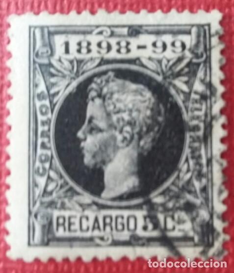 ESPAÑA. ALFONSO XIII, 1898. 5 CTS. NEGRO (Nº 240 EDIFIL) (Sellos - España - Alfonso XII de 1.875 a 1.885 - Usados)