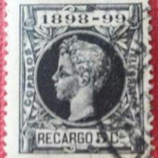 Sellos: ESPAÑA. ALFONSO XIII, 1898. 5 CTS. NEGRO (Nº 240 EDIFIL). Lote 140002462