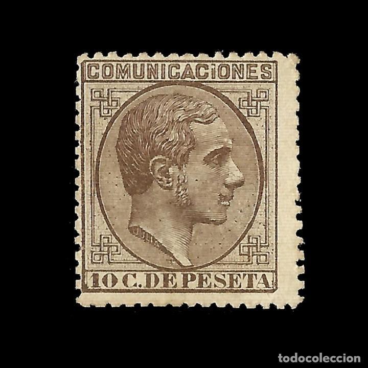 ALFONSO XII 1878 ALFONSO XII. IMPUESTO DE GUERRA. 10C CASTAÑO. NUEVO. EDIF.Nº192 (Sellos - España - Alfonso XII de 1.875 a 1.885 - Nuevos)