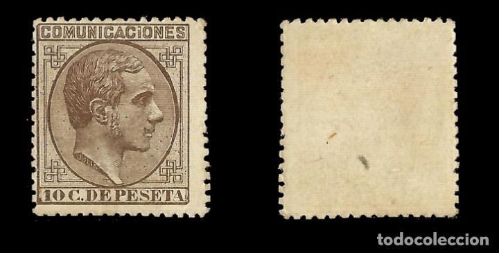 Sellos: ALFONSO XII 1878 Alfonso XII. Impuesto de Guerra. 10c castaño. Nuevo. Edif.nº192 - Foto 2 - 140307962