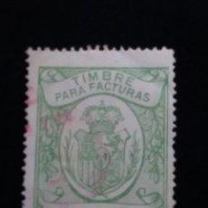 Sellos: TIMBRE PARA FACTURAS10 CENTIMOS - 1900. Lote 140308762