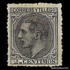 Sellos: ALFONSO XII 1879 ALFONSO XII. 2C NEGRO GRIS. NUEVO. EDIF.Nº200. Lote 140308858