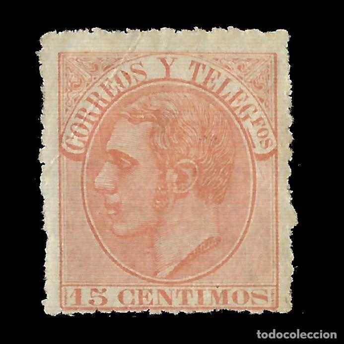 ALFONSO XII 1882 ALFONSO XII. 15C.NARANJA PÁLIDO. NUEVO. EDIF.Nº210 (Sellos - España - Alfonso XII de 1.875 a 1.885 - Nuevos)