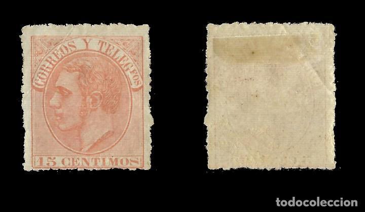 Sellos: ALFONSO XII 1882 Alfonso XII. 15c.naranja pálido. Nuevo. Edif.nº210 - Foto 2 - 140312382