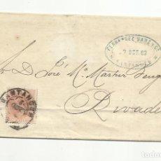 Francobolli: ALFONSO XII CIRCULADA 1882 DE SANTANDER A RIVADEO. Lote 140566266