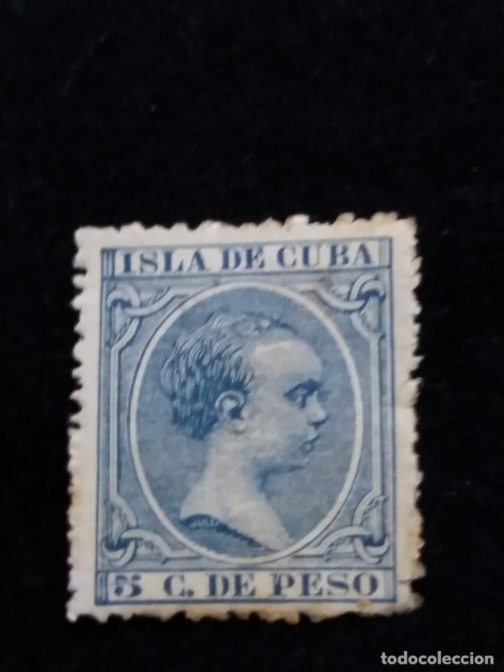 SELLO CORREOS ESPAÑA. 10 C. DE PESO - ALFONSO XIII ISLA DE CUBA. USADO. AÑO1891 (Sellos - España - Alfonso XII de 1.875 a 1.885 - Usados)