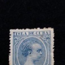 Sellos: SELLO CORREOS ESPAÑA. 10 C. DE PESO - ALFONSO XIII ISLA DE CUBA. USADO. AÑO1891. Lote 141134338
