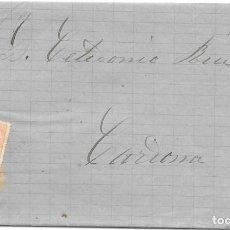 Sellos: EDIFIL 210. ENVUELTA DE SABADELL A CARDONA. 11-SET-1884. Lote 141185062