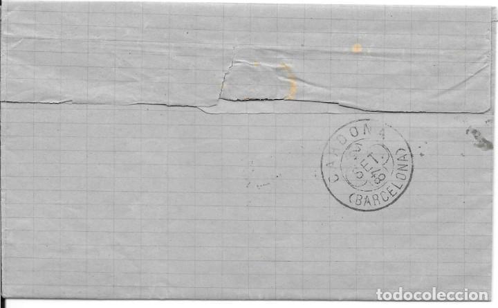 Sellos: EDIFIL 210. ENVUELTA DE SABADELL A CARDONA. 11-SET-1884 - Foto 2 - 141185062