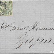 Timbres: EDIFIL 164-154. ENVUELTA DE BARCELONA A ZAFRA. 14-MAY-1876. Lote 141189582