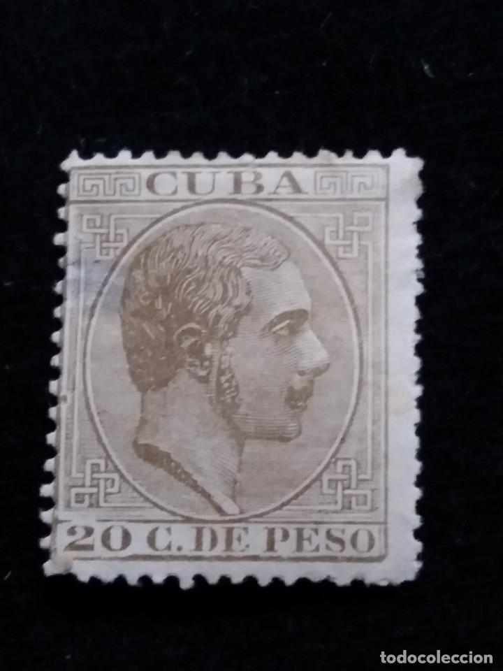 SELLO CORREOS ESPAÑA, ALFONSO XII. 20 C. DE PESO. AÑO 1883. USADO (Sellos - España - Alfonso XII de 1.875 a 1.885 - Usados)