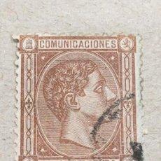 Sellos: EDIFIL 167 40 CTS CASTAÑO OSCURO ALFONSO XII , USADO, BUEN ESTADO, CATÁLOGO 52€. Lote 142287098