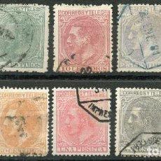 Sellos: ESPAÑA 1879. EDIFIL 200/09º - SERIE COMPLETA - ALFONSO XII. Lote 142705174
