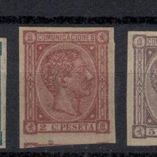 Sellos: 162S, 163S,164S ALFONSO XII. 1875 COMUNICACIONES. Lote 145152198