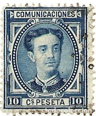 10 CÉNTIMOS ALFONSO XII - 1876 (Sellos - España - Alfonso XII de 1.875 a 1.885 - Usados)