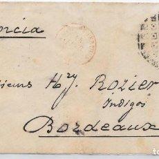 Sellos: EDIFIL 177. SOBRE CIRCULADO DE BARCELONA A BORDEAUX - FRANCIA. 1877 . Lote 145713746