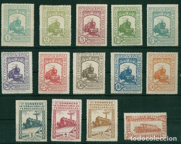 EDIFIL 469/482.SERIE CONGRESO FERROCARRILES.CERTIFICADO SORO Y CMF.CATÁLOGO 1.960€ (Sellos - España - Alfonso XII de 1.875 a 1.885 - Nuevos)