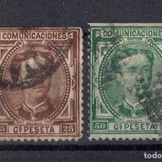 Timbres: ESPAÑA 1876 ALFONSO XII EDIFIL 177 Y 179 USADO - 8/30. Lote 146729150