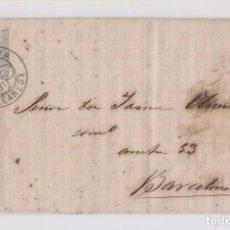 Sellos: CARTA ENTERA. DE ALCUDIA, MALLORCA, BALEARES. PRECIOSO TRÉBOL. 1881. Lote 149601506