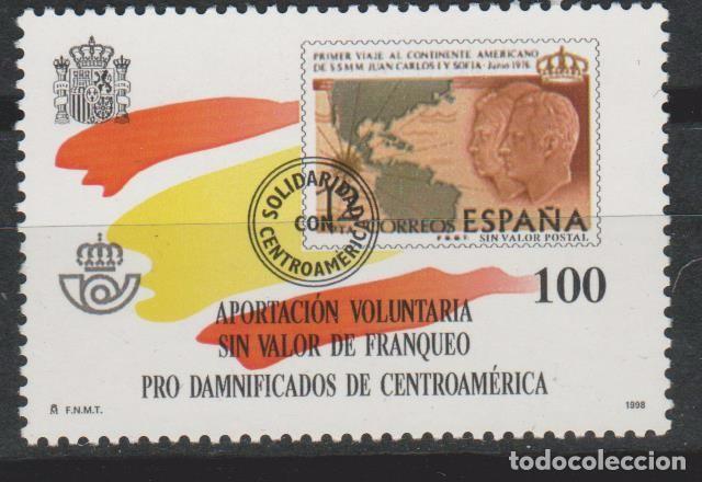 LOTE 5 SELLOS VIÑETA BENEFICENCIA APORTACION VOLUNTARIA 1988 (Sellos - España - Alfonso XII de 1.875 a 1.885 - Usados)
