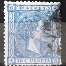 Sellos: EDIFIL 164 A, USADO; COLOR: AZUL OSCURO. ALFONSO XII.. Lote 151519802