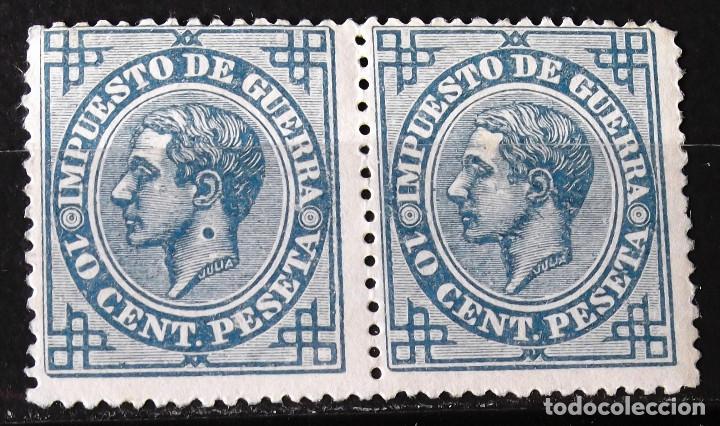 EDIFIL 184, PAREJA, SIN MATASELLAR, SIN GOMA; EN UNO DE LOS SELLOS. PUNTO EN EL CUELLO. ALFONSO XII. (Sellos - España - Alfonso XII de 1.875 a 1.885 - Nuevos)