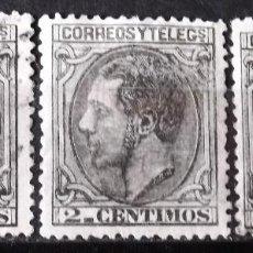Sellos: EDIFIL 200, TRES SELLOS, USADOS. ALFONSO XII.. Lote 151934426