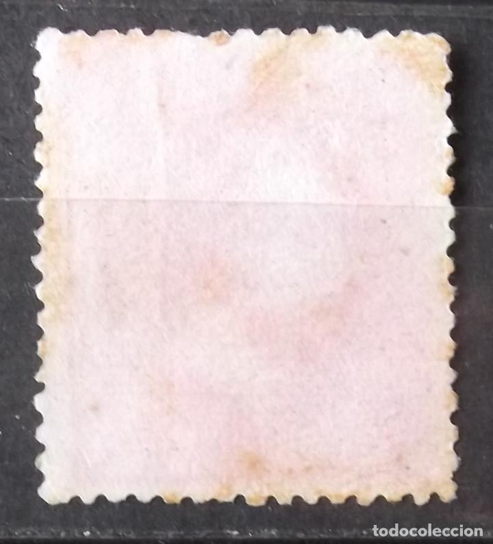 Sellos: Edifil 202, sin matasellar, sin goma; con manchas tiempo. Alfonso XII. - Foto 2 - 151935198