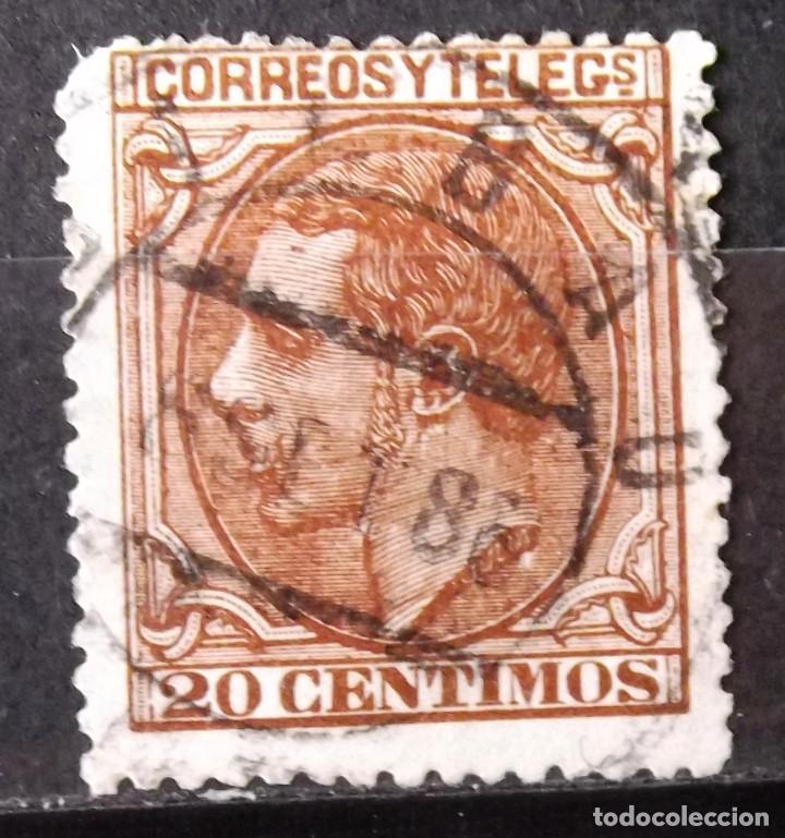 """EDIFIL 203, USADO; MATASELLO: """"BILBAO, 8 SET 86"""". ALFONSO XII. (Sellos - España - Alfonso XII de 1.875 a 1.885 - Usados)"""