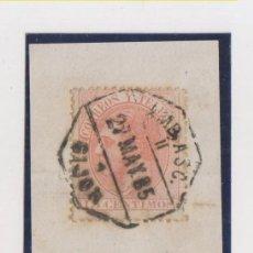 Sellos: FRAGMENTO. AMBULANTE ASCENDENTE. GIJÓN, ASTURIAS. 1885. Lote 152360666
