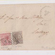 Sellos: ENVUELTA DE PONTEVEDRA A SANTIAGO. IMPUESTO DE GUERRA.1873. GALICIA.. Lote 152362518
