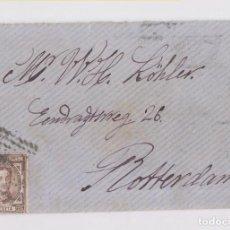 Sellos: SOBRE CONSERVANDO LA CARTA. DE BARCELONA A HOLANDA. 1878. VER DORSO. Lote 152364606