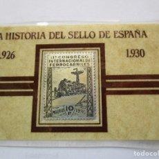 Sellos: HISTORIA DEL SELLO EN ESPAÑA . PLATA. Lote 152465070