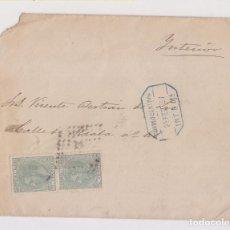 Sellos: RARO SOBRE CORREO INTERIOR DE MADRID. 1887. FECHADOR AZUL. Lote 153494994