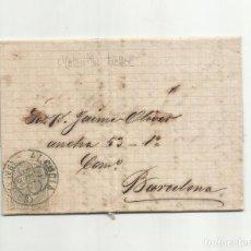 Sellos: CIRCULADA 1881 DE ALCUDIA BALEARES A BARCELONA CON NOVEDADES SOBRE CARGAS Y EMBARQUES. Lote 154391698